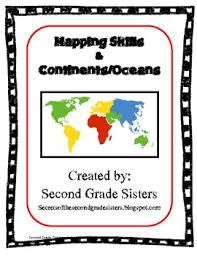 2nd grade 2nd grade continents and oceans worksheets printable