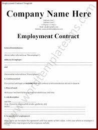 19 example of a contract of employment sendletters info