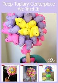Candy Topiary Centerpieces - how to turn easter peeps into a crafty centerpiece video cafemom