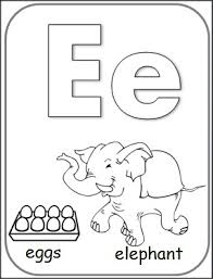 free letter e alphabet coloring page letter of the week