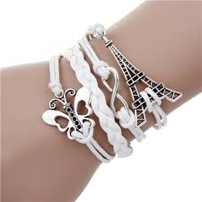 double charm bracelet images Infinite double leather multilayer charm bracelet oristlet jpg