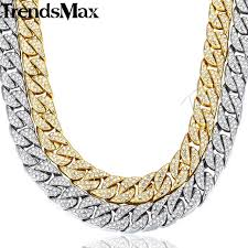 cuban chain necklace gold images 14mm miami curb cuban chain necklace for men gold silver hip hop jpg