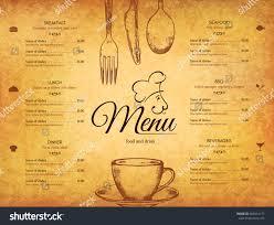 restaurant menu design vector menu brochure stock vector 666514177