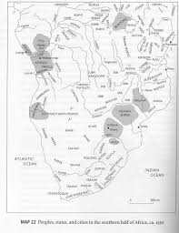 Map Of The Southern States by Maps Of Kingdoms Peoples States And Cities In Africa Through