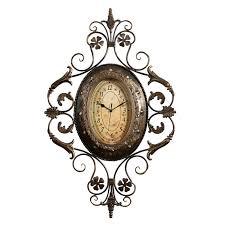 rod iron home decor fashion vintage clock wrought iron wall clock living room