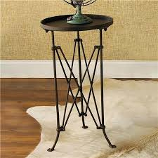 round metal side table french provincial small round black metal side table telescopic legs