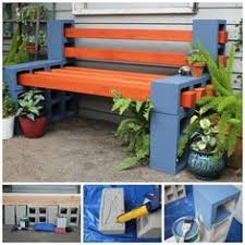 diy patio couch and cushion i made an easy cinder block couch with