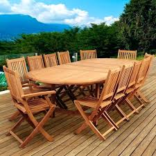 Wooden Patio Dining Set Teak Deck Chairs Highland Park Person Teak Patio Dining Set With