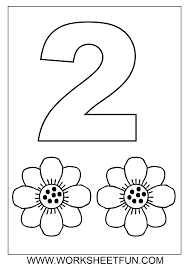 free coloring pages number 2 free math worksheets number coloring number pinterest free