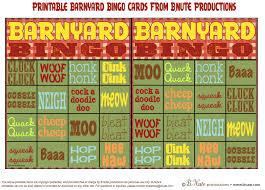 thanksgiving bingo free printable cards bnute productions free printable barnyard bingo game