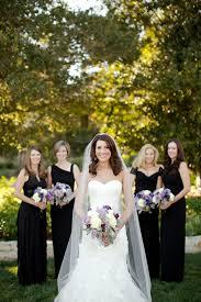 long elegant black bridesmaids dresses elizabeth anne designs