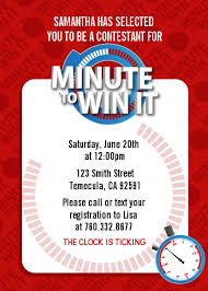 birthday party invitations minute to win it inspired birthday party invitations candles and