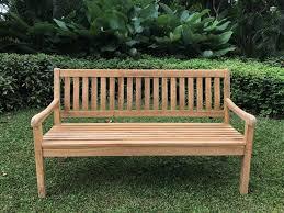 landhaus outdoor teak bench 3 seater 160cm u2013 hemma online