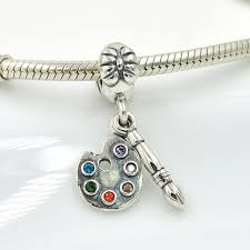 solid sterling silver charm bracelet images Fits pandora charms bracelet solid 925 sterling silver enamel jpg
