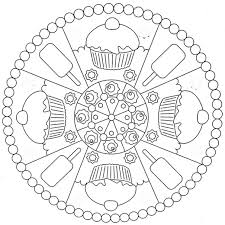 cookies and ice cream mandala coloring pages mandala coloring