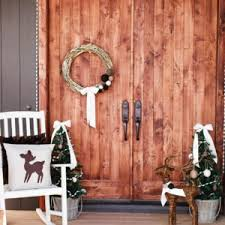 indoor home christmas celebration ideas with unique plywood