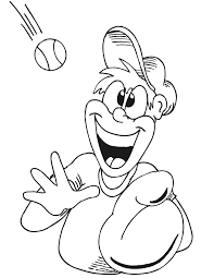 printable baseball player coloring page player making catch