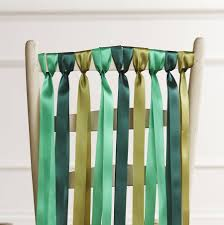 chair ribbons green wedding chair ribbons by just add a dress