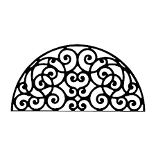 Wrought Iron Rubber Doormat Arch Intricate Wrought Iron Wall Decor Home Decor