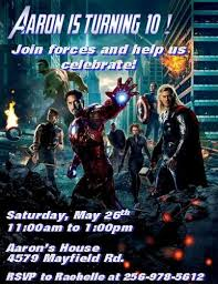 the avengers personalized birthday invitations digital file