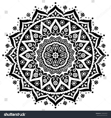 indian lace ornament stock vector 120242473