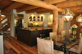 elegant small log cabin kitchens taste