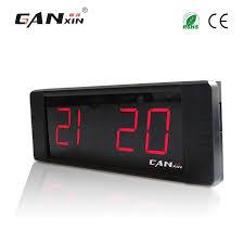 horloge sur le bureau ganxin électronique numérique led horloge murale quieten alarme