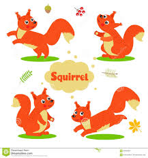 funny cartoon squirrel characters set welcome baby stock vector