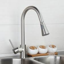 Brushed Nickel Kitchen Faucet Ouboni Modern Luxury Kitchen Faucet Cold U0026 Water Tap 8688 Sink