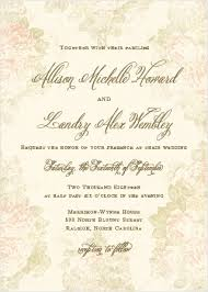 vintage wedding invitation vintage wedding invitations match your color style free