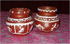 Warli Art Simple Designs Pot Painting Warli Style U2022 Art Platter