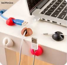 Desk Clips Keithnico 5pcs Cable Clips Wire Organizer Cable Winder Retainer