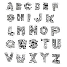 rhinestone bracelet charms images A z letter slide charm nickel free alloy rhinestone jpg