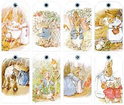 eight peter rabbit tags for paper crafts printable by boxesbybrkr