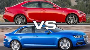 2016 lexus is 350 vs 2016 audi a4