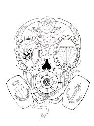 violin tattoo designs calavera gas mask skull by greg loizou this started as a tattoo