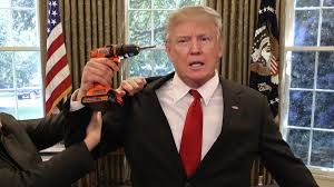 aides wrestle drill from trump u0027s hands as he tries to remove obama