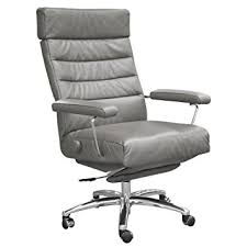 Grey Leather Recliner Adele Executive Recliner Office Chair Grey Leather By