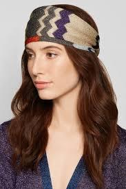 knit headband missoni metallic crochet knit headband net a porter