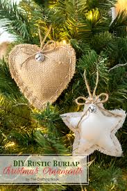 diy rustic burlap christmas ornaments the crafting nook by