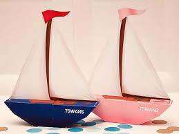 piggy bank party favors sailboat favor box blue diy printable pdf by piggybankparties