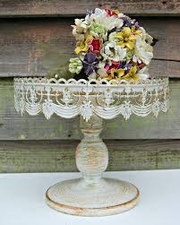 vintage cake stand wedding cake shabby chic vintage style rustic pedestal cake