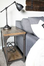 round industrial side table rustic metal and wood side tables coma frique studio 567a0ad1776b