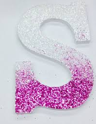 letter s wall decor diy glitter ombré letter fun dorm room wall decor we this
