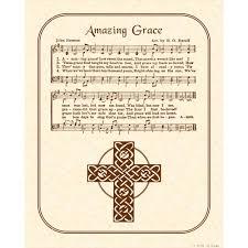 amazing grace hymn art custom christian home decor