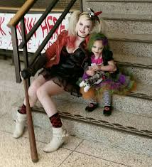 Harley Quinn Halloween Costume Kids Harley Quinn Baby Duela Dent Joker Puddin Mother Daughter Cosplay