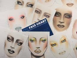 makeup artist sketchbook chart