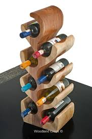 unique wood wine bottle holder natural wine rack
