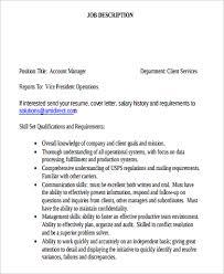 Account Executive Job Description For Resume Account Manager Job Description Relationship Manager Resume