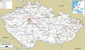 Driving Maps Detailed Clear Large Road Map Of Czech Republic Ezilon Maps